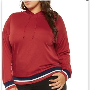Plus Size Stripe Hoodie